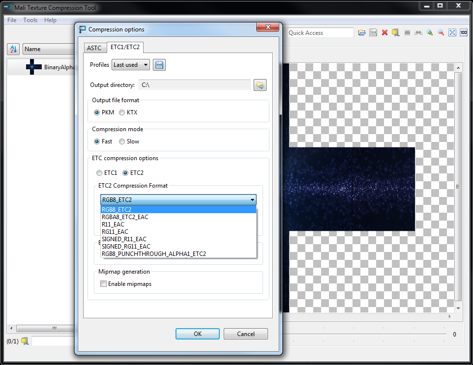 OpenGL ES SDK for Android: ETC2 Texture
