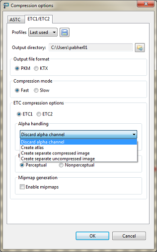 OpenGL ES SDK for Android: Texture Compression and Alpha